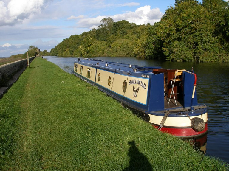 Shared narrow boat Swallowtail